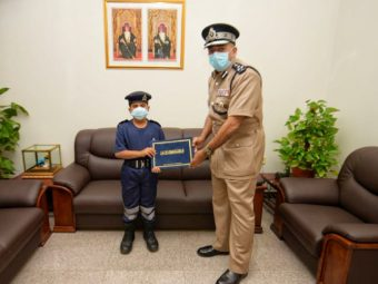 Boy who saved family from fire honoured by the Civil Defence in Oman