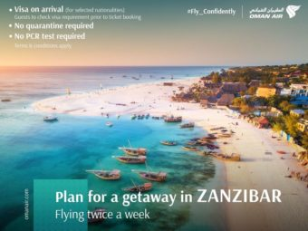 Win flights to Zanzibar with OmanAir