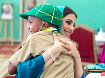 Honourable Lady Spends Mother's Day at Child Care Centre